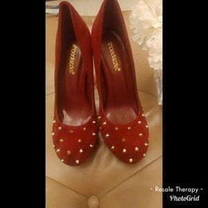 ShoeDazzle Maroon Heels Sz 7.5
